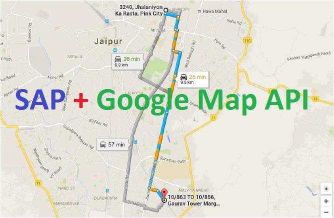 GPS like tool in SAP using Google Map API |