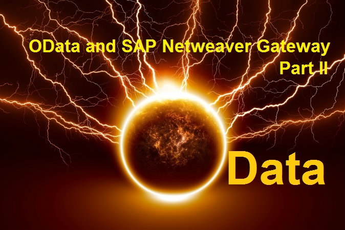 OData and SAP Netweaver Gateway  Part II  Create your first OData