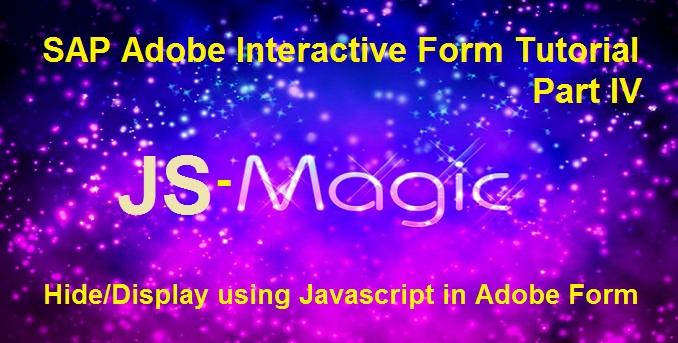 SAP Adobe Interactive Form Tutorial  Part IV  Dynamically