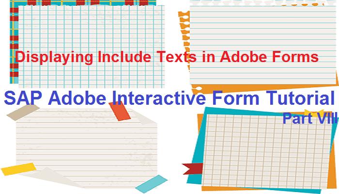 SAP Adobe Interactive Form Tutorial  Part VIII  Displaying