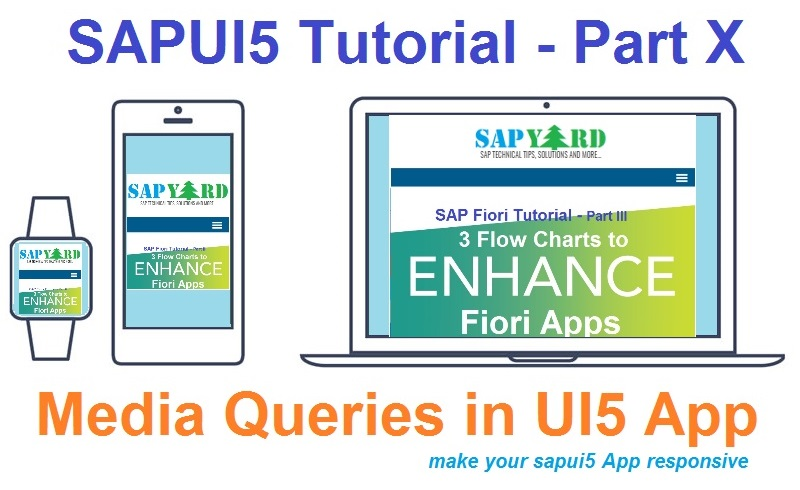 SAPUI5 Tutorial with WebIDE  Part X  Using Media Queries in UI5