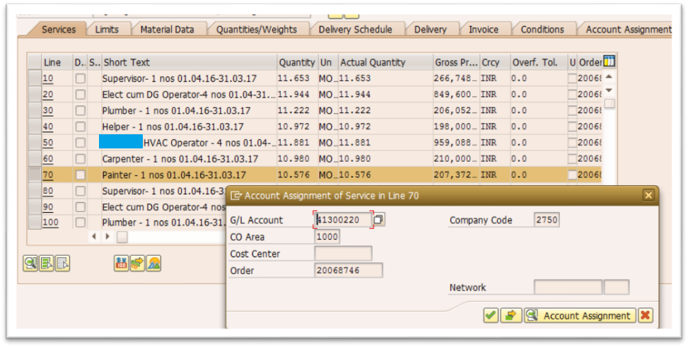 Issues while modifying SAP PO Service Item using BAPI? |