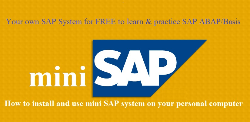 Install SAP System for Free to Practice & Learn SAP |