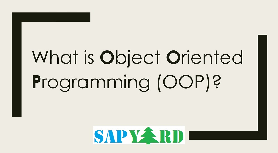 Step by Step Tutorial on Object Oriented Programming |