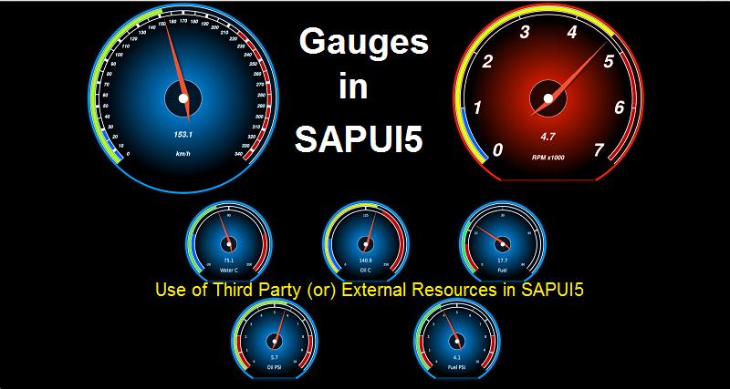 Gauges In SAPUI5 |