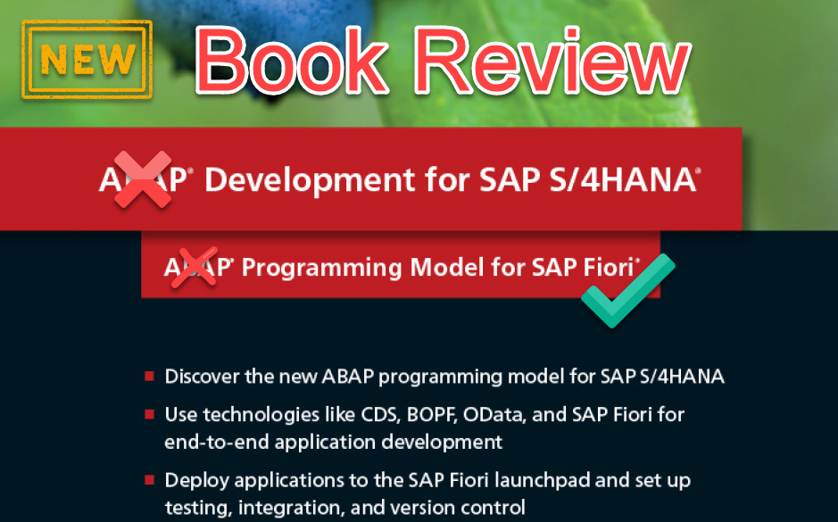 ABAP Development for S/4HANA - Book Review |