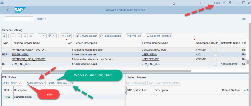 Issue with OData Service Created Using CDS View Annotations |