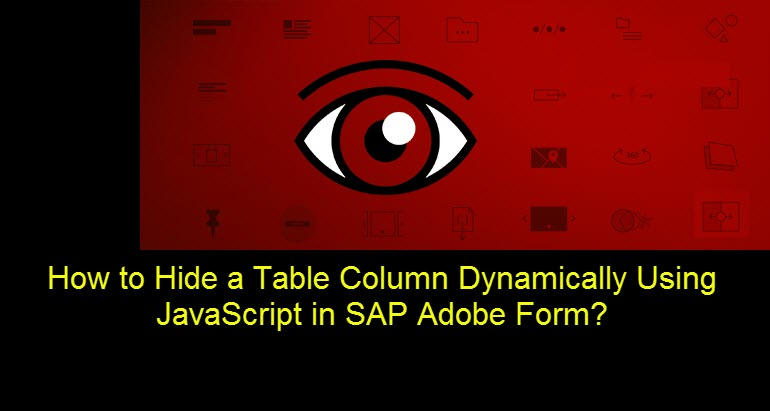 How to Hide Table Column Dynamically Using JavaScript? |