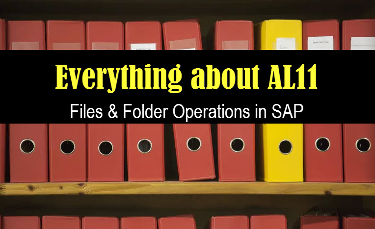 A to Z of AL11 - All SAP File Directory Operations |