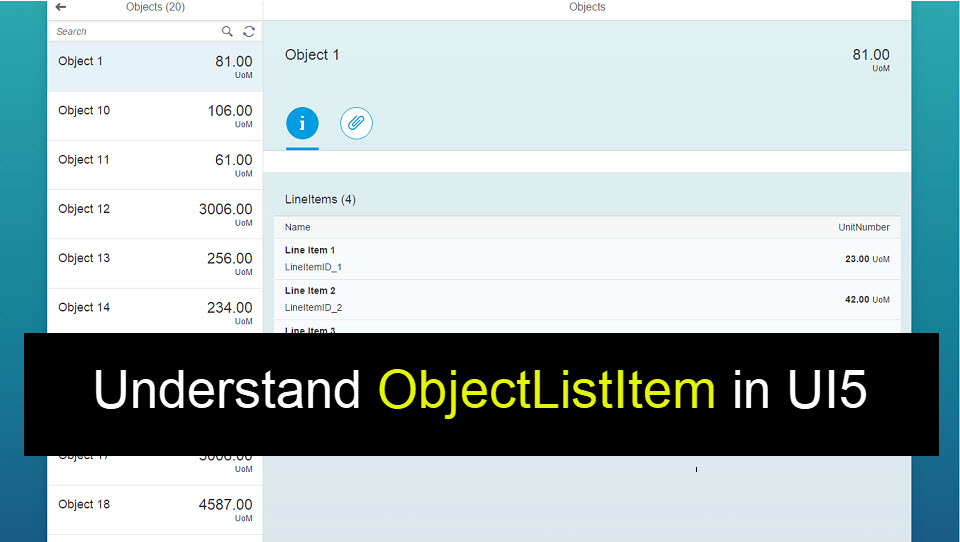 Let's Understand ObjectListItem Control in SAPUI5 |