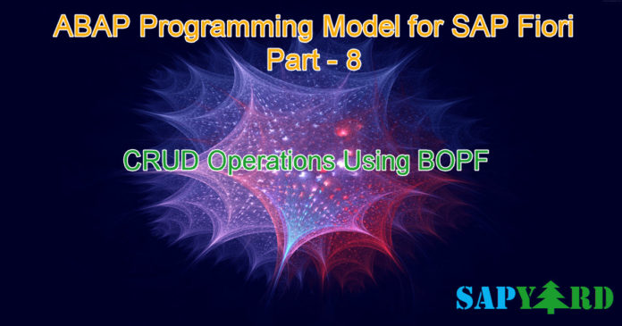 CRUD Operation in SAP BOPF