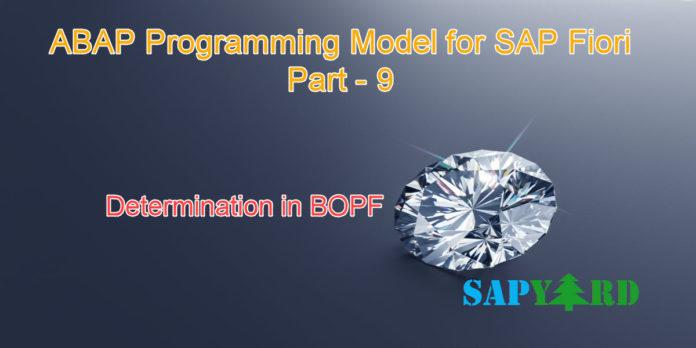 Determination in BOPF